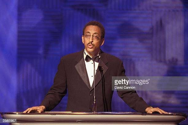 Gregory Hines presents the Awards Ceremony of the Laureus World Sports Awards Gala at the Grimaldi Forum May 22 2001 in Monaco Hines died of cancer...
