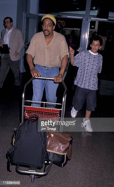Gregory Hines & Son during Gregory Hines Departing for New York City at California International Airport in Los Angeles, CA, United States.