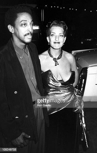 Gregory Hines & Wife during The 37th Annual Emmy Awards at Pasadena Civic Auditorium in Pasadena, CA, United States.