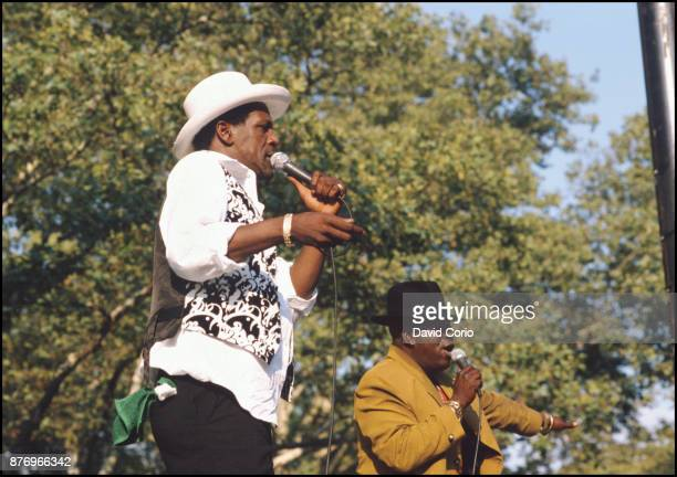 Gregory Isaacs and Barrington Levy performing at Central Park Summerstage New York August 1998