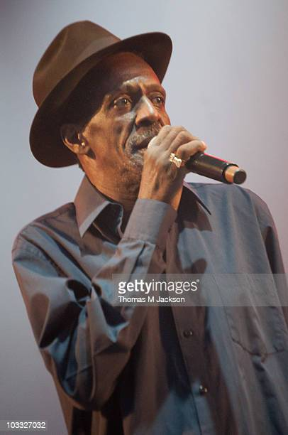 Gregory Isaacs performs on stage during the final day of The Big Chill festival at Eastnor Castle Deer Park on August 8 2010 in Ledbury United Kingdom