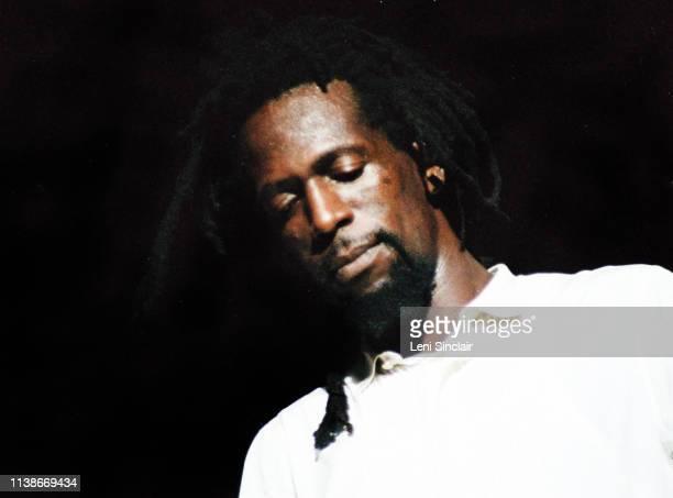 Gregory Isaacs reggae singer at Reggae Sunsplash festival at Jarrett Park in Montego Bay Jamaica August 3 7 1982