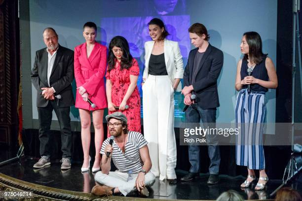 Gregory Itzin Maya Henry Andrea Chung Johnny Whitworth Eva Doležalová Jack Kilmer and Rebecca Sun on stage at an event where Flaunt Presents a...