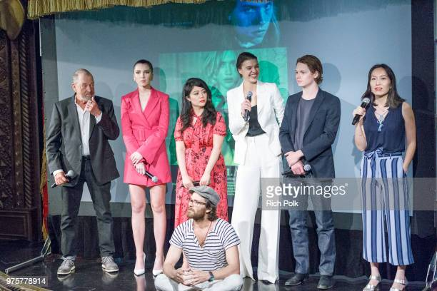 Gregory Itzin Maya Henry Andrea Chung Johnny Whitworth Eva Dolealová Jack Kilmer and Rebecca Sun on stage at an event where Flaunt Presents a private...