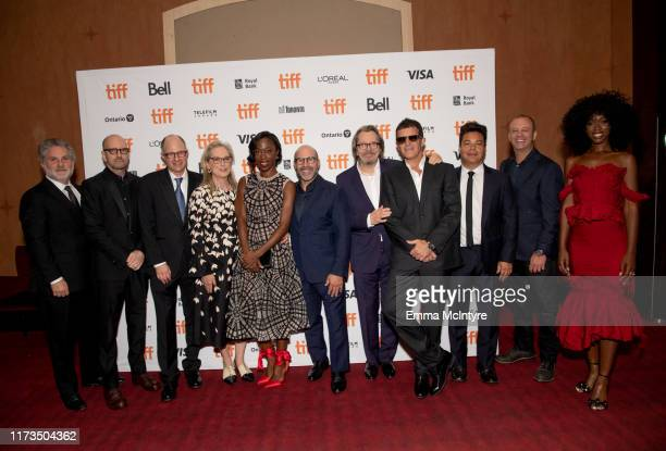 Gregory Jacobs Steven Soderbergh Jake Bernstein Meryl Streep Scott Z Burns Gary Oldman Antonio Banderas Lawrence Grey and Jessica Allain attend the...