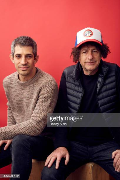 Gregory Kershaw and Michael Dweck from the film 'The Last Race' pose for a portrait in the YouTube x Getty Images Portrait Studio at 2018 Sundance...
