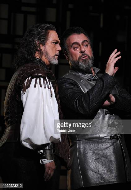 """Gregory Kunde as Otello and Carlos Álvarez as Iago in The Royal Opera's production of Giuseppe Verdi's """"Otello""""directed by Keith Warner and conducted..."""