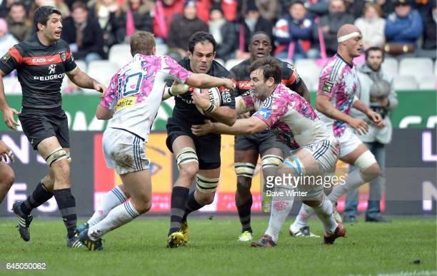 Gregory LAMBOLEY / Jules PLISSON / David LYONS - - Stade Franτais / Toulouse - 9e journee de Top 14 -Stade de France- Photo: Dave Winter / Icon Sport.