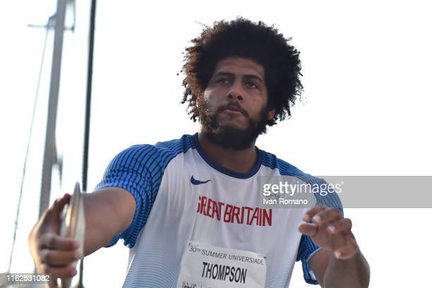 Gregory Leigh Thompson of Great Britain during Men's Discus Final during day six of the 2019 Summer Universiade on July 13 2019 in Naples Italy