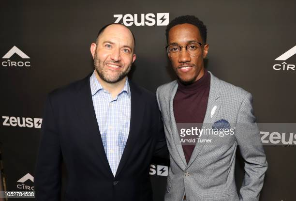 Gregory Mintz and Lemuel Plummerattend the ZEUS New Series Premiere Party X CIROC Black Raspberry on October 19 2018 in Burbank California
