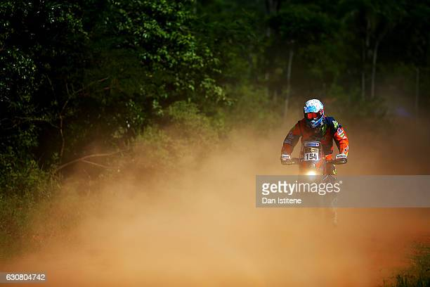 Gregory Morat of France and KTM Nomade Racing rides a 450 Rally KTM bike during stage one of the 2017 Dakar Rally between Asuncion Paraguay and...