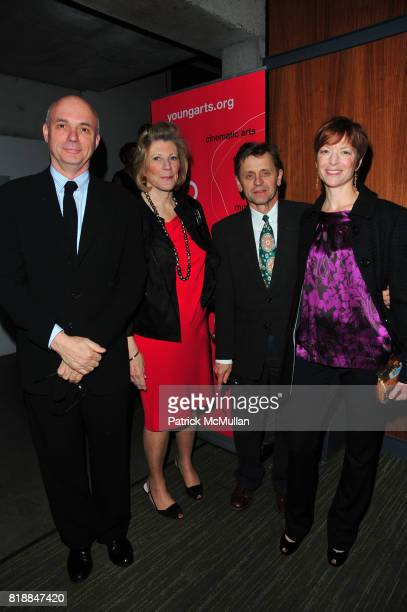 Gregory Mosher Agnes Gund Mikhail Baryshnikov and Lisa Rinehart attend In the Studio A Celebration of the Young Arts Gold and Silver Winners at...