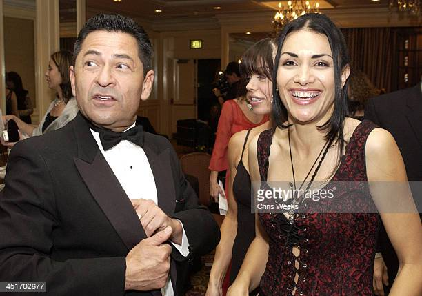 Gregory Nava and Lourdes Colon during Johnnie Walker Lounge at the National Hispanic Media Coalition's Image Awards at Regent Beverly Wilshire in...