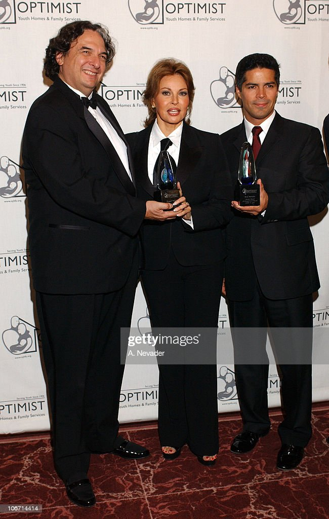 Gregory Nava, Raquel Welch and Esai Morales during 6th Annual Mentor Awards Gala in Honor of Raquel Welch, Esai Morales and L. A. City Attorney Rocky Delgadillo at Beverly Hilton Hotel in Beverly Hills, California, United States.