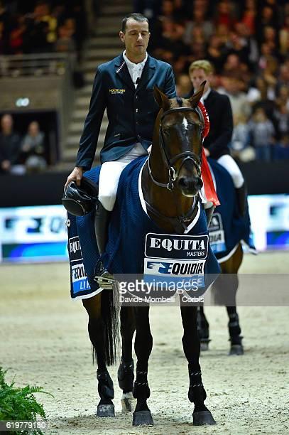 Gregory of Belgium rides Eldorado van het Vijverhof prize giving cerimony the Grand Prix EQUITA MASTERS Longines FEI World Cup at in the EQUITA Lyon