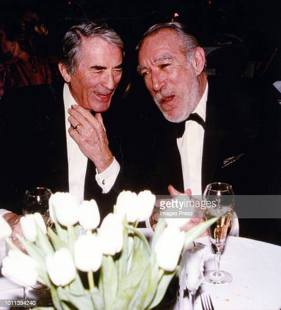Gregory Peck and Anthony Quinn circa 1998 in New York City