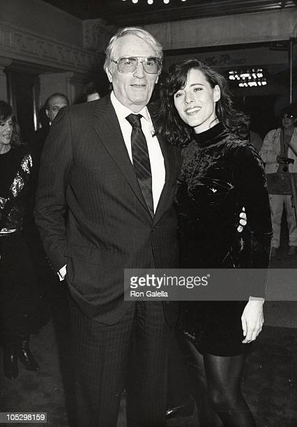 Gregory Peck and daughter Cecilia Peck during Old Gringo Premiere After Party at Ziegfeld Theater/Plaza Hotel in New York City NY United States