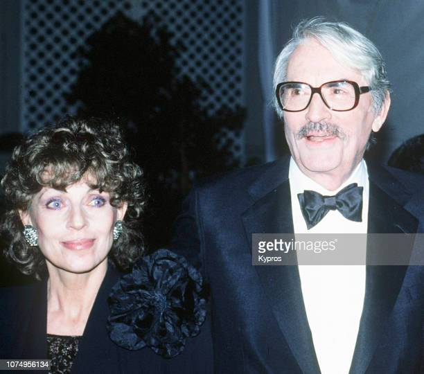 Gregory Peck and his wife, french journalist Veronique Peck , attend the Sammy Davis Jr's 60th Anniversary Celebration in Show Business, Los Angeles,...