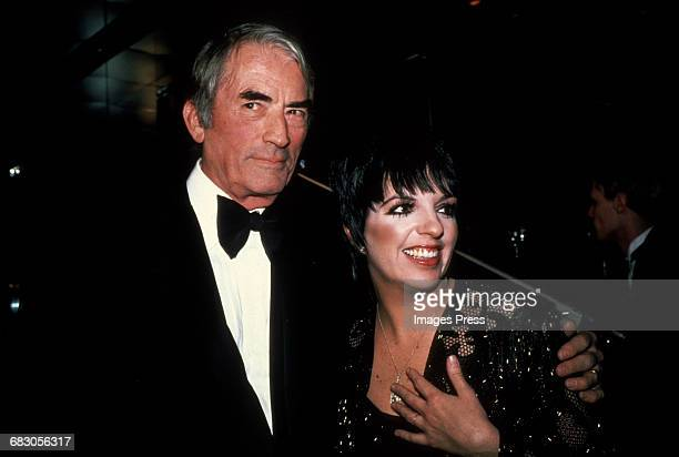 Gregory Peck and Liza Minnelli circa 1980s in New York City