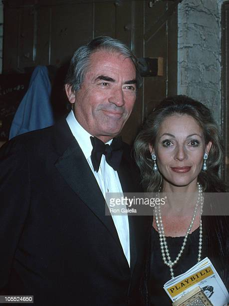 Gregory Peck and Veronique Peck during Gregory Peck Sighting Backstage at the Biltmore Theater in New York City - 1978 at Biltmore Theater in New...