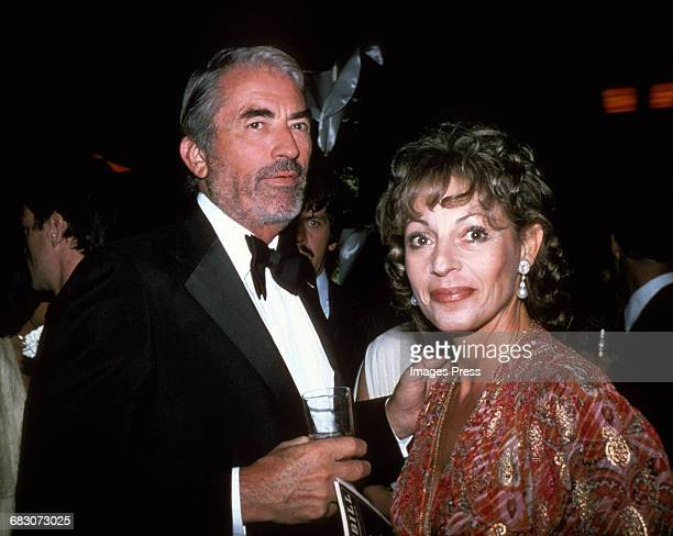 1980s: Gregory Peck and wife Veronique circa 1980s in New York City.