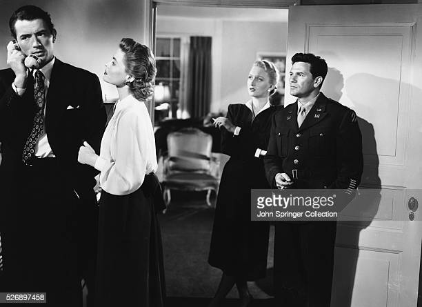 Gregory Peck as Philip Schuyler Green Dorothy McGuire as Kathy Lacey Celeste Holm as Anne Dettrey and John Garfield as Dave Goldman in Gentleman's...