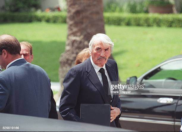 Gregory Peck attended the religious ceremony at the Church of the Good Shephed in Beverly Hills