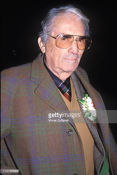 Gregory Peck attending the 1992 Hollywood Christmas Parade, November 1992
