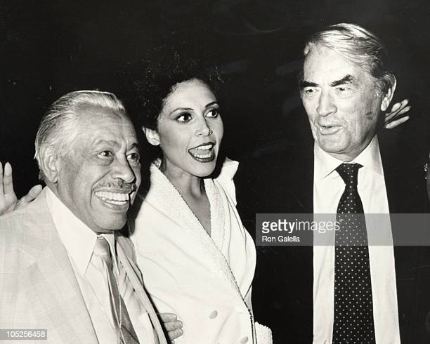 Gregory Peck Cab Calloway Lonette McKee during Opening Night of 'Lady Day at Emerson's Bar Grill' at Westside Arts Theater in New York City NY United...