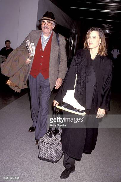 Gregory Peck Daughter during Arriving from New York at Los Angeles International Airport in Los Angeles California United States