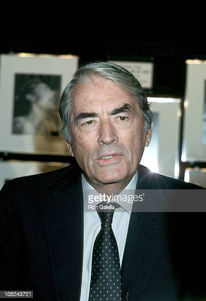 Gregory Peck during 'Lady Day' At The Westside Arts Theater at Westside Arts Theater in New York City New York United States
