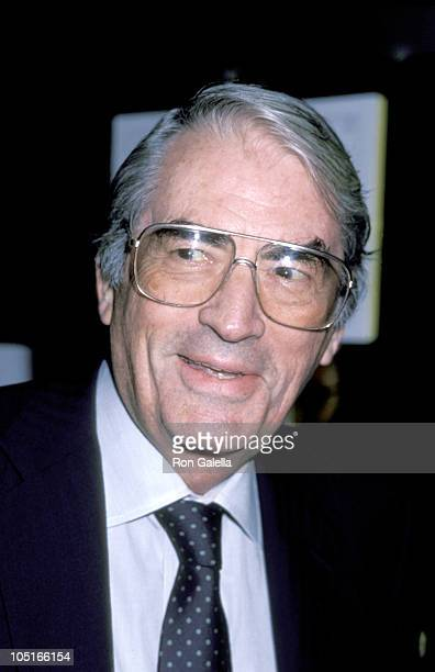 Gregory Peck during Opening Night of 'Lady Day at Emerson's Bar Grill' at Westside Arts Theater in New York City NY United States
