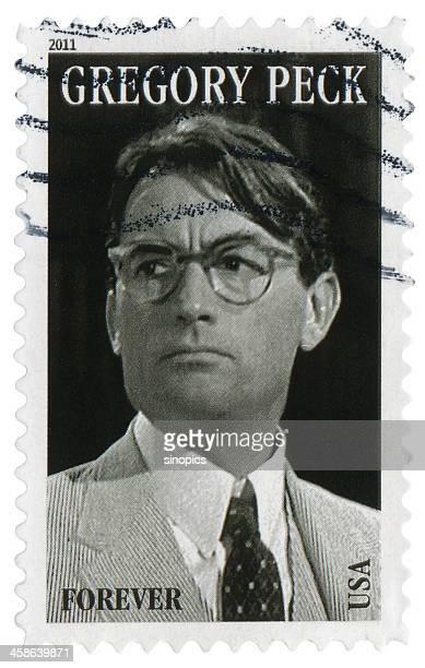 gregory peck (xxg) - marca postal - fotografias e filmes do acervo