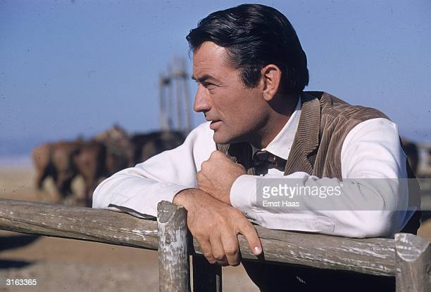 Gregory Peck plays retired sea captain James McKay in the William Wyler western 'The Big Country'