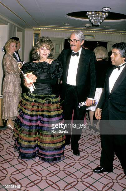 Gregory Peck Wife during Friars Club Salute to Barbara and Frank Sinatra at Waldorf Hotel in New York City New York United States