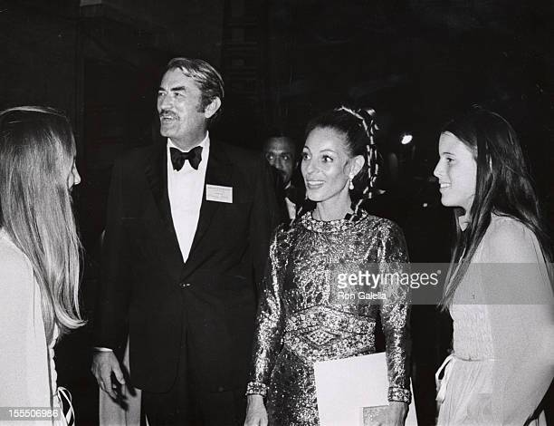 Gregory Peck wife Veronique daughters during Gregory Peck And Family File Photos United States