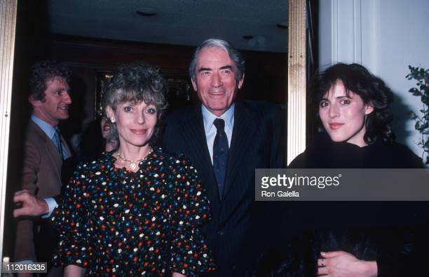 Gregory Peck with wife Veronique and daughter Cecilia