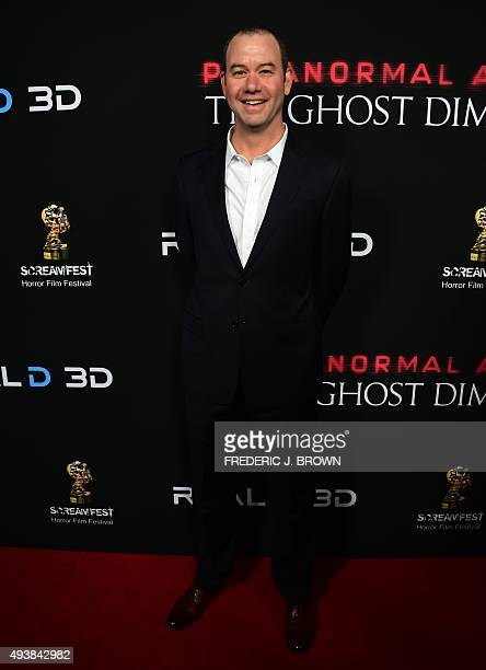Gregory Plotkin director arrives for the Screamfest Closing Night screening of 'Paranormal Activity Ghost Dimension' in Hollywood California on...