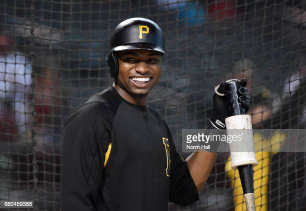 Gregory Polanco of the Pittsburgh Pirates takes batting practice prior to a game against the Arizona Diamondbacks at Chase Field on May 12 2017 in...