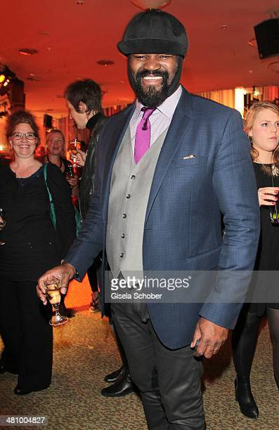 Gregory Porter attends the Echo award 2014 Party at Messe Berlin on March 27 2014 in Berlin Germany