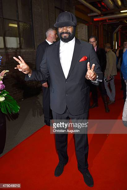 Gregory Porter attends the Echo Jazz 2015 at the dockyard of BlohmVoss on May 28 2015 in Hamburg Germany