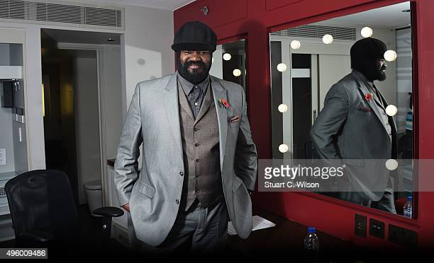 Gregory Porter backstage after rehearsing for his performance at The Royal British Legion's Festival of Remembrance at the Royal Albert Hall on...