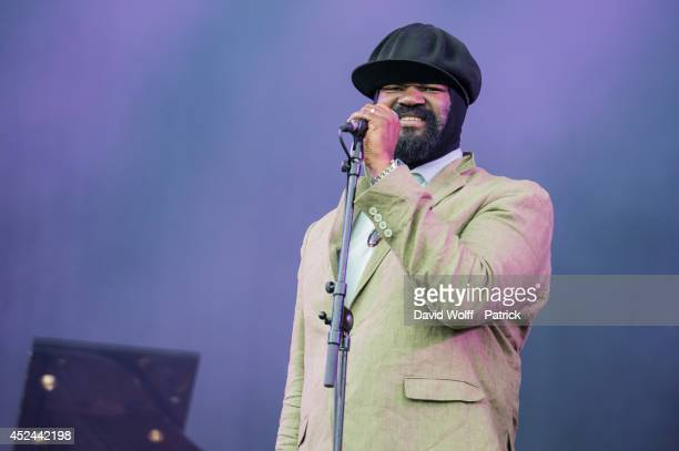 Gregory Porter performs at Fnac Festival at Hotel de Ville on July 20 2014 in Paris France