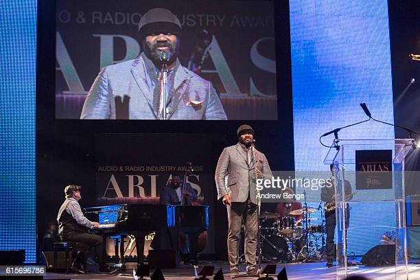 Gregory Porter performs at the Audio & Radio Industry Awards at First Direct Arena Leeds on October 19, 2016 in Leeds, England.