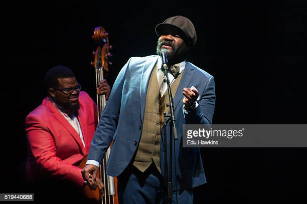 Gregory Porter performs at The Royal Albert Hall on April 4 2016 in London England