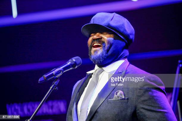 Gregory Porter performs at the Volkswagen Dinner Night prior to the GQ Men of the Year Award 2017 on November 8 2017 in Berlin Germany