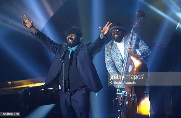 Gregory Porter performs during the Echo Jazz 2016 show at Kampnagel on May 26 2016 in Hamburg Germany