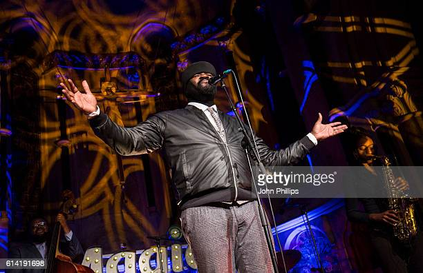 Gregory Porter performs for Magic FM in aid of Macmillan Cancer Support at The House of St Barnabas on October 12 2016 in London England