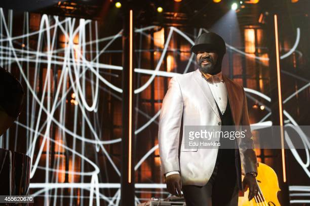Gregory Porter performs on stage for iTunes Festival at The Roundhouse on September 17 2014 in London United Kingdom