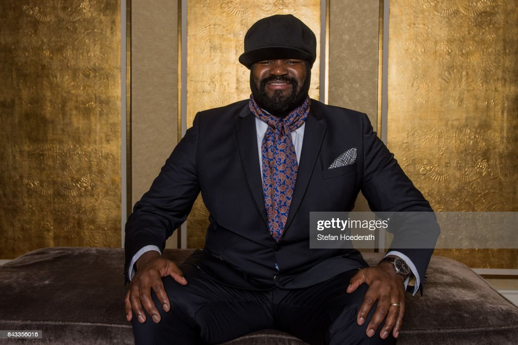 Gregory Porter poses for a photo during Universal Inside 2017 organized by Universal Music Group at Mercedes-Benz Arena on September 6, 2017 in Berlin, Germany.